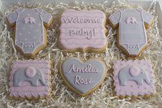 Baby Girl Elephant Cookie Package by Jaclyn's Cookies, via Flickr