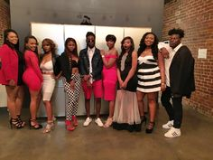 The cast of 'Love in the Macon' at the taping of the reunion show for their reality series at SoChi Gallery. 4/19/2016