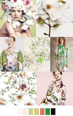 Copyright Fashionvignette.blogspot.co.uk   botanical fresh colours moodboard