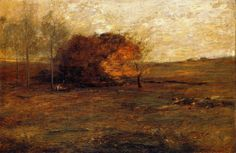 John Francis Murphy,American Tonalist, Autumn, 24 1/2 x 36 1/4, oil on canvas
