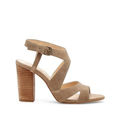 India cut-out heeled sandal - Taupe
