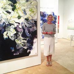 Can you tell I am enjoying Miami? ...... @artmiamifairs #artist #art#contemporaryart #floral #botanical #tulips #contextmiami @Chloe