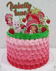 Bolo da Moranguinho: 80 ideias delicadas e tutoriais de como fazer Bolo Minnie, Strawberry Shortcake Party, Baby Room, Birthday Cake, Desserts, Desktop Storage, Diy, Food, Strawberry Shortcake Birthday