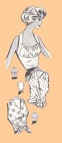 Halters, circa This pattern is for an assortment of three summer halters. View 2 is fully faced. Vintage Fashion 1950s, Mode Vintage, Retro Fashion, Vintage Style Dresses, Blouse Vintage, Vintage Outfits, Patron Vintage, Vintage Glamour, Vintage Sewing Patterns