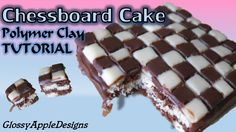 Miniature Polymer Clay Chessboard Cake Tutorial