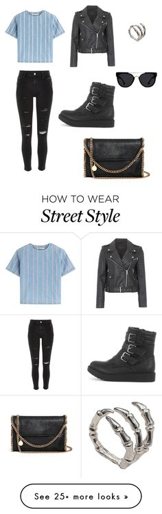 """Street style"" by paloshunda on Polyvore featuring T By Alexander Wang, French Connection, River Island, Quay, STELLA McCARTNEY and Bernard Delettrez"