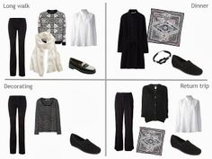 Travel capsule wardrobe in Black and White Packing for a Long Weekend | The Vivienne Files