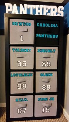 Gibsonu0027s Carolina Panthers Cube Storage