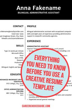 Everything you need to know before you use a creative resume template. If you like this cv template. Check others on my CV template board :) Thanks for sharing!Everything you need to know before you use a creative resume template. Resume Layout, Resume Tips, Resume Examples, Resume Ideas, Resume Design Template, Creative Resume Templates, Cv Template, Magazine Design, Effective Resume