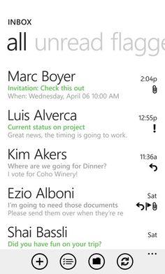 default e-mail client for Windows Phone 7.5