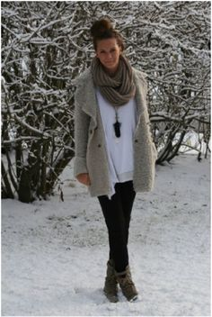 this look is cozy and perfect for winter.