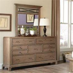 Windhaven Dresser and Vertical Mirror