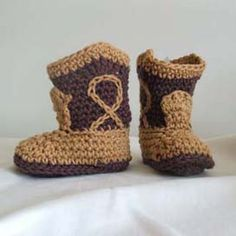 Crochet Cowboy Boots. I have to find a pattern for these!!