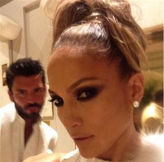 """Me and David...ready for some after party fun... #costumechange#AfterpartyBarbie #GoldenGlobes"" --Jennifer Lopez, who posted this picture on Instagram on Jan. 11, 2015"