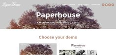 Paperhouse Wordpress Theme, Blog, Blogging