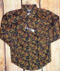 $17.99! free ship! CINCH Jeans MTW7230014 Boys cowboy SHIRT Western Button up  NWT Youth XS 4/5 #CINCH #DressyEverydayHoliday