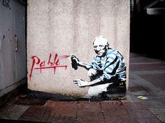Street Art in Spain Street Art by Sr.x – Gijon (Spain) – Street Art and Graffiti … - PinPhoto. Graffiti Art, Stencil Graffiti, Picasso, Reverse Graffiti, Visionary Art, Land Art, Street Artists, Banksy, Urban Art