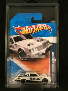 2011 Hot Wheels Performance BUICK GRAND NATIONAL White Pennzoil 1:64 w/ PROTECTO #HotWheels #Buick