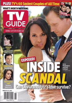 TV Guide magazine Scandal Kerry Washington Tony Goldwyn Sexiest couples ever