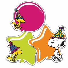 Eureka Peanuts Birthday Assorted Paper Cut-Outs, 12 Each of 3 Different Designs,