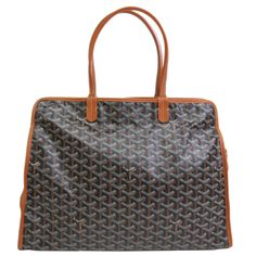 Goyard Black Tote Bag | From a collection of rare vintage tote bags at https://www.1stdibs.com/fashion/handbags-purses-bags/tote-bags/