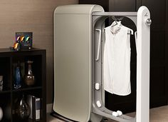 The Swash ($500) is the first-ever at-home dry-cleaning machine. About the size of a large garment bag, it fits snugly in your closet or bedroom and cleans soiled clothes in only ten minutes.  Read more: An At-Home Dry-Cleaning Machine | Home + Garden | PureWow National