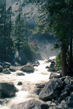 Beautiful white river picture