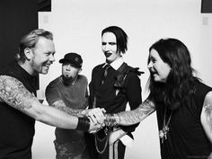 James, Fred, Marilyn Manson and Ozzy (Iconic Black And White Celebrity Photographs)