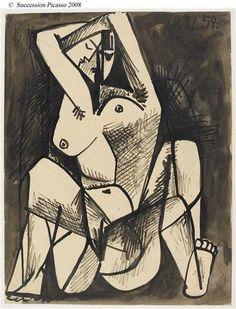 """Pablo Picasso Etude pour """"Les femmes d'Alger"""" d'après Delacroix 1954 Paris ; musée national Picasso"""