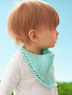 Yarnspirations.com - Lily Dribble Bib - Free Pattern - knit - easy | Yarnspirations