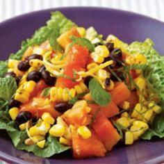 Papaya, Black Bean & Corn Salad