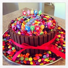 chocolate cake with kit kat and smarties - Google Search