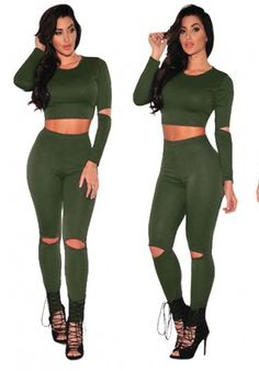 Newest addition to our catalogue Green, Women's Ca...  Follow Link http://sexyheksie.myshopify.com/products/green-womens-casual-long-sleeve-top-pants-set-m-lr26550-4?utm_campaign=social_autopilot&utm_source=pin&utm_medium=pin