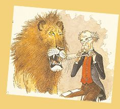 "Max the Lion from ""Magnus Maximus, A Marvelous Measurer"" http://kathleenpelley.com/magnus-maximus.php"