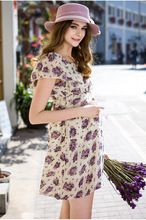 Nueva primavera verano embarazadas vestidos mujer maternidad , ropa , ropa embarazadas mamá estilo de moda temperamento vestido Floral(China (Mainland))