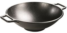 """With its contemporary style, curved lines and legendary cooking performance, the Lodge 14"""" Cast Iron Wok is an over-sized vessel that is the perfect size for cooking generous amounts of your favorite stir-fry recipes. The cast iron properties of this wok provide superior heat retention and... more details available at https://www.kitchen-dining.com/blog/cookware/all-pans/product-review-for-lodge-p14w3-seasoned-cast-iron-wok-14-inch/"""