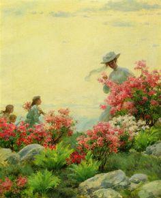 Among the Wild Azaleas (Charles Courtney Curran - 1908)