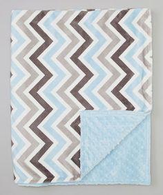 Look at this #zulilyfind! Blue & Gray Zigzag Toddler Blanket by Bebe Bella Designs #zulilyfinds