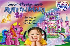 My Little Pony Birthday Party Invitations 24 HOUR by Mrsinvites, $10.99