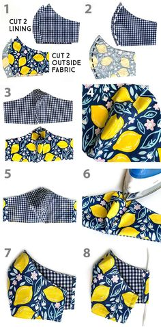 How to Make a DIY Fabric Face Mask   Sewing   Be Brave and Bloom Diy Clothes Projects, Diy Sewing Projects, Arts And Crafts Projects, Sewing Hacks, Sewing Tutorials, Lining Fabric, Pleated Fabric, Sewing Patterns Free, Fabric Patterns