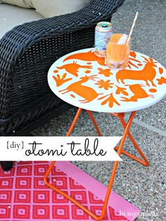 DIY Otomi table with step-by-step instructions from Hi Sugarplum