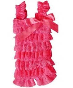 0c9e4fb4a44f Hot Pink Romper for acadia s bday outfit Vintage Lace