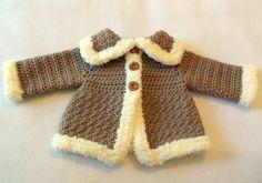 Crochet PATTERN Baby Sweater & Hat Patterns by SatisfyYourYarnings