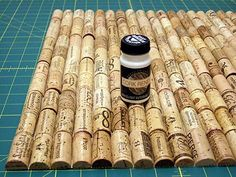 How to seal wine corks. This is great for all those crafty, DIY-ers making things out of recycled wine corks.