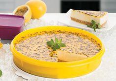 Cheesecake de Ricota com Coulis de Maracujá