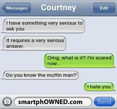 cute, muffin man, smartphowned, text