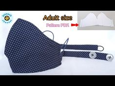 Fabric Face Mask Ear protection| How to Make a Face Mask | Easy Pattern หน้ากากผ้าทำเอง ไม่เจ็บหู - YouTube Hand Sewing Projects, Sewing Projects For Beginners, Sewing Lessons, Sewing Hacks, Mascara 3d, Sewing To Sell, Fashion Face Mask, Mask For Kids, Mask Design