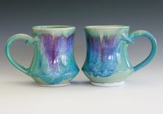 Pair of Porcelain Coffee Mugs, handmade ceramic cups. $35.00, via Etsy. kitchen colors