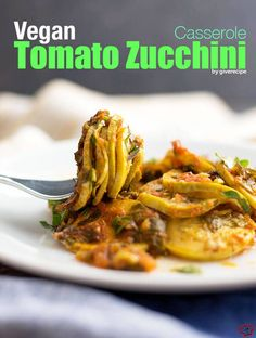 Vegan Tomato Zucchini Casserole is incredibly scrumptious. It is bursting into flavors although it is dairy free, egg free and vegetarian.