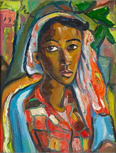 Irma Stern South African artist. (1894-1966) Portrait of a Malay Woman